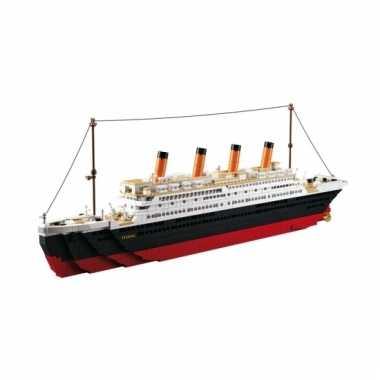 Afgeprijsde sluban boot titanic blokjes bouwset