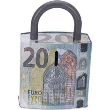 Afgeprijsde spaarpot 20 eurobiljet 25 cm