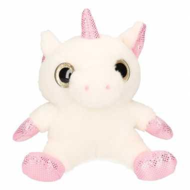 Afgeprijsde speelgoed eenhoorn knuffel 21 cm