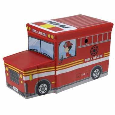 Afgeprijsde speelgoed opbergdoos in brandweerauto uitvoering
