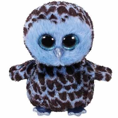 Afgeprijsde speelgoed uil blauw 15 cm