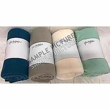Afgeprijsde taupe fleece plaid/dekentje 130 x 160 cm