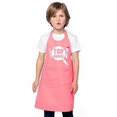 Afgeprijsde top kokkie kookschort kinderen roze