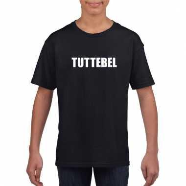Afgeprijsde tuttebel tekst t-shirt zwart meisjes