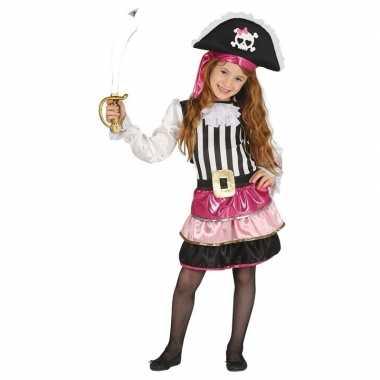 Afgeprijsde verkleedkleding roze piraten jurkje