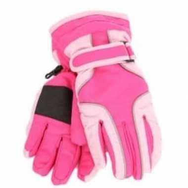 Afgeprijsde wintersport handschoen knal roze voor meisjes