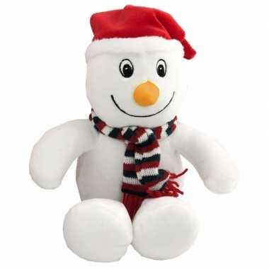 Afgeprijsde zacht pluche sneeuwpop knuffel 26 cm