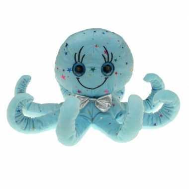 Afgeprijsde zachte blauwe inktvis knuffel 40 cm