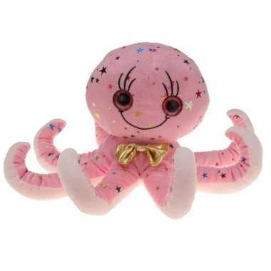 Afgeprijsde zachte roze inktvis knuffel 40 cm