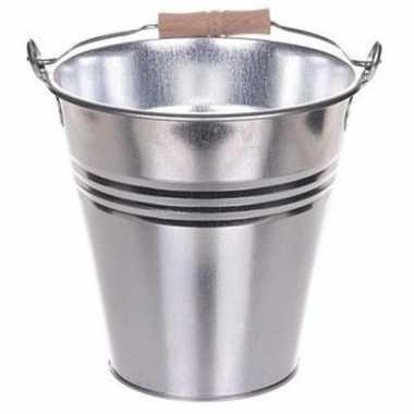 Afgeprijsde zilveren koelemmer/ijsemmer 20 cm