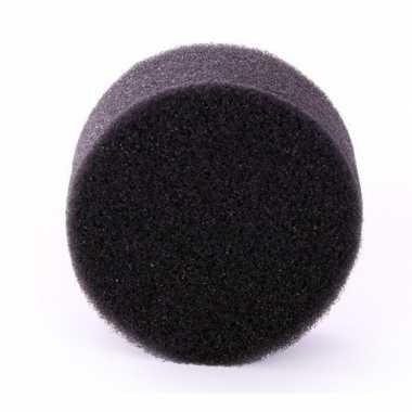 Afgeprijsde zwart schmink / make up sponsje rond