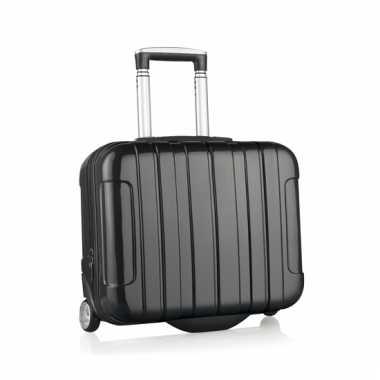 Afgeprijsde zwarte reiskoffer klein formaat