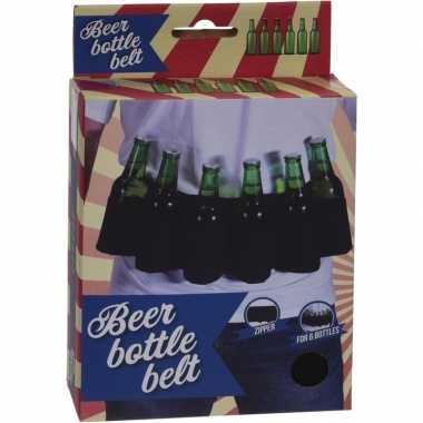 Afgeprijsde zwarte riem voor 6-pack bierflessen