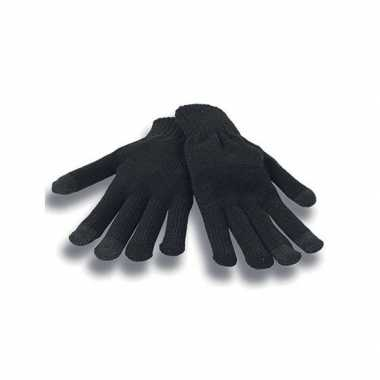 Afgeprijsde zwarte winter handschoenen voor je mobiel