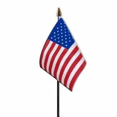 Amerika luxe zwaaivlaggetje polyester