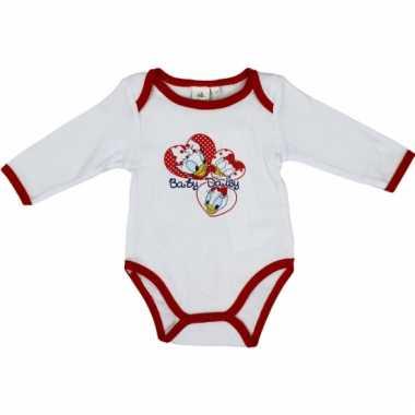 Baby kado katrien rompertje wit/rood