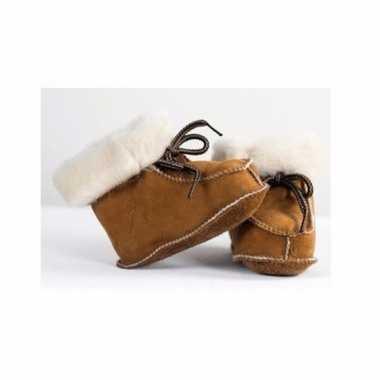 Baby pantoffels van lamsleer maat 18