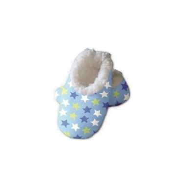 Baby sloffen met sterren print