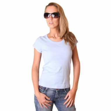 Babyblauw bella shirt voor dames