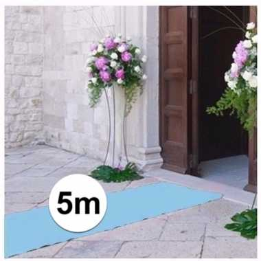 Babyshower artikelen 5 meter lichtblauwe loper 1 meter breed
