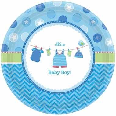 Babyshower bordjes its a baby boy