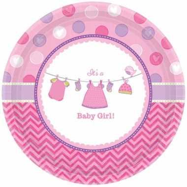 Babyshower bordjes its a baby girl