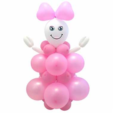 Babyshower doe het zelf ballonnen meisje