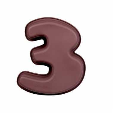 Bakvorm van siliconen materiaal cijfer 3