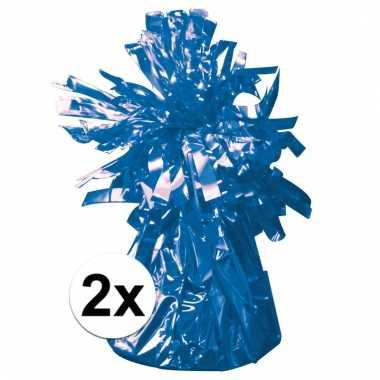 Ballon gewichten blauw 2 stuks