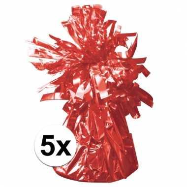 Ballon gewichten rood 5 stuks