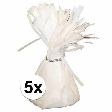 Ballon gewichten wit 5 stuks