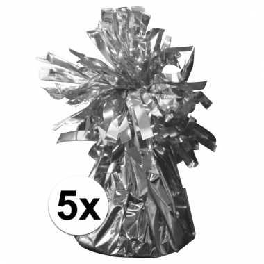 Ballon gewichten zilver 5 stuks