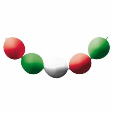 Ballon slinger in de kleuren van italie