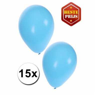 Ballonnen lichtblauw 15x