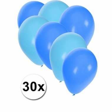 Ballonnen lichtblauw en blauw 30x