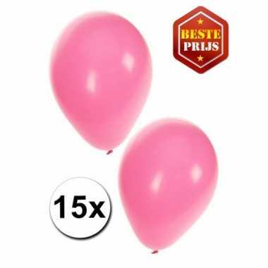 Ballonnen lichtroze 15x