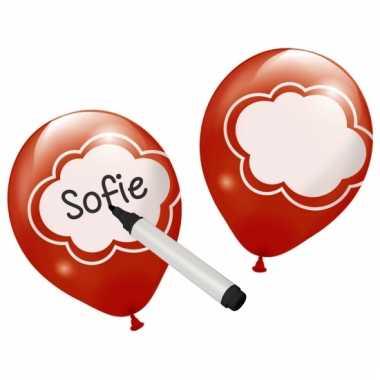 Ballonnen met schrijfvlak