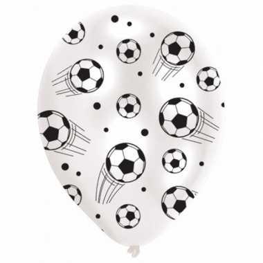 Ballonnen met voetballen 6 stuks