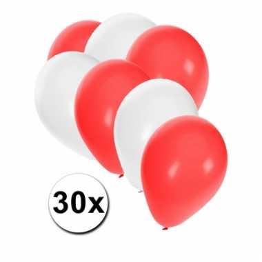 Ballonnen pakket rood wit