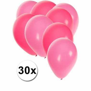 Ballonnen roze en lichtroze 30x
