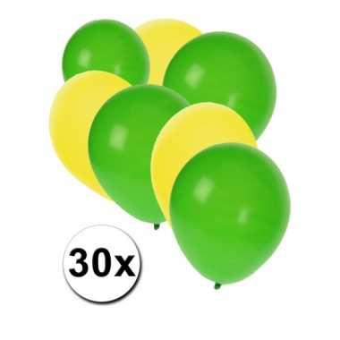 Ballonnen setje groen en geel