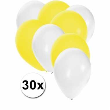 Ballonnen wit en geel 30x
