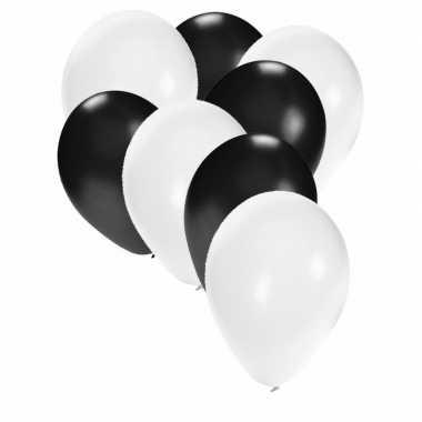 Ballonnen wit en zwart 30x