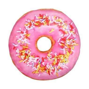Bank kussen donut lichtroze