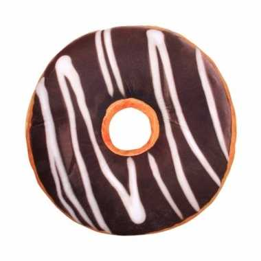 Bank kussentje chocolade donut 40 cm