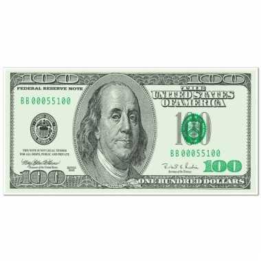 Banner dollar briefje 76 x 150 cm