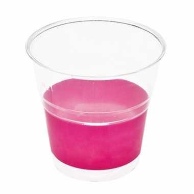 Barbecue bekers fuchsia roze 10 stuks