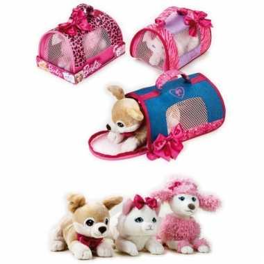 Barbie hondentas met witte poedel voor meisjes