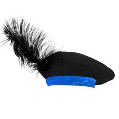 Baret zwart/blauw voor kinderen