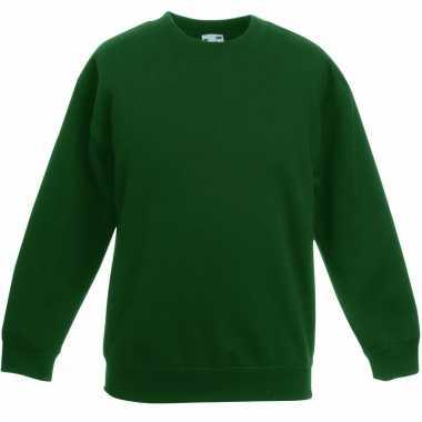 Basis donker groene truien/sweaters meisjeskleding